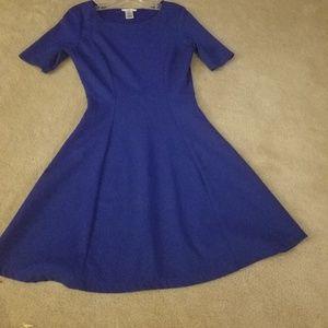 """Cobalt blue Bar III medium """"a line"""" flirty dress"""